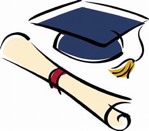 Graduation cap and diploma clipart black white 3 ...