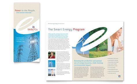 utility energy company tri fold brochure template design