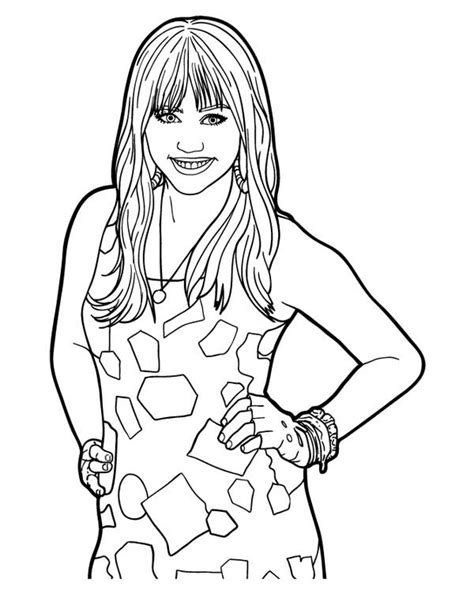 Free Hannah Montana Coloring Pages | Free Coloring Pages For Kids | 613x474
