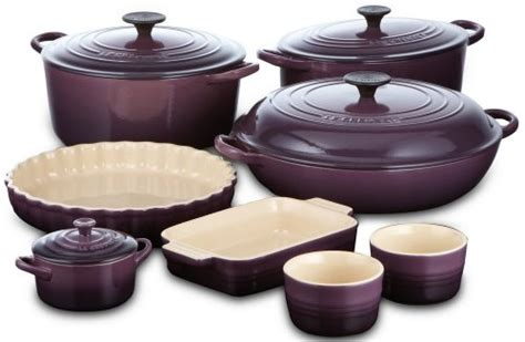 le creuset stoneware small utensil jar   cassis purple