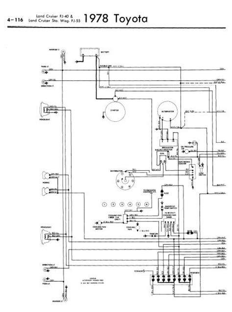 repair manuals toyota land cruiser fj40 55 1978 wiring