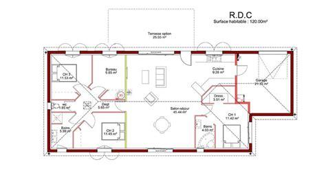 plan maison 4 chambres suite parentale exceptionnel plan maison 120m2 4 chambres 10 plan suite