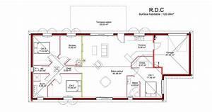 Plan Maison 4 Chambres Avec Suite Parentale : plan maison 4 chambres avec suite parentale ~ Melissatoandfro.com Idées de Décoration