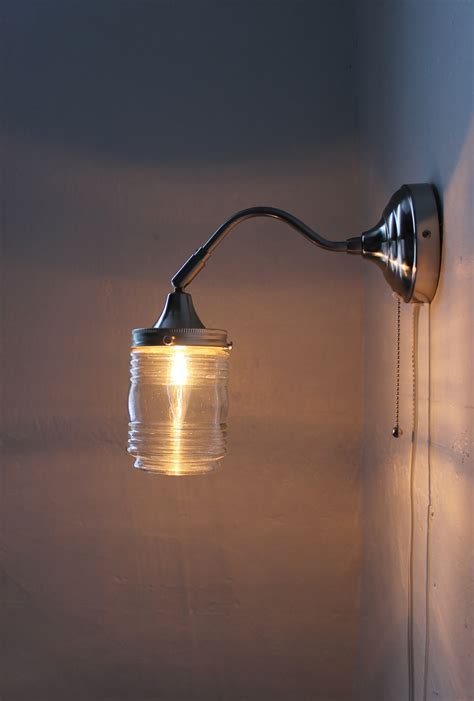 city lights gooseneck wall sconce l industrial stainless