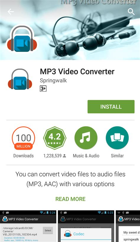 How to Convert Video(MP4) to Audio(MP3) on Android? - Tactig