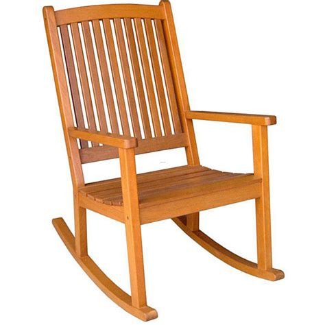 royal tahiti yellow balau wood kd large rocking chair