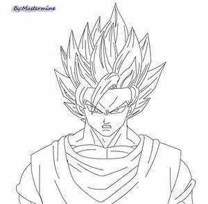 Ssj2 Goku Drawing Coloring Pages