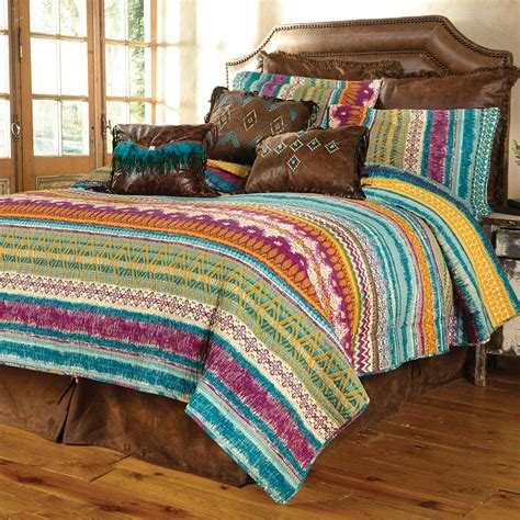fuchsia tribal  piece quilt set fullqueen