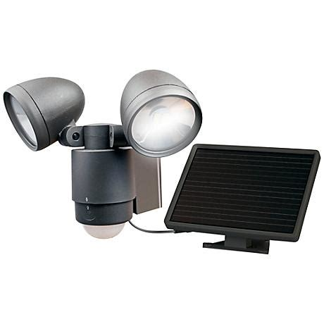 bronze dual solar led outdoor security light