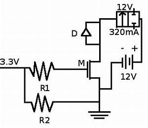gpio simple dc solenoid valve circuit how to size With solenoid circuit