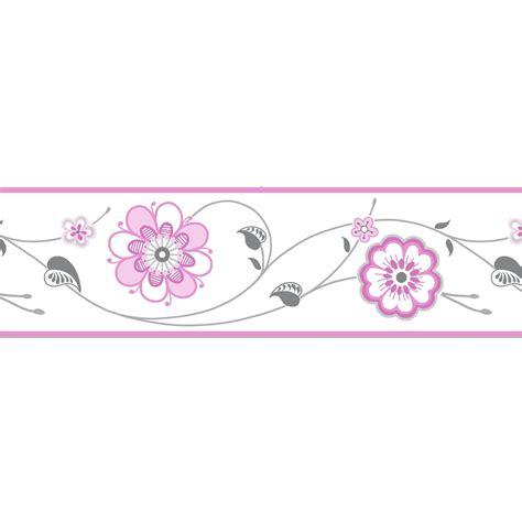 diy bathroom paint ideas cassidy pink floral border departments diy at b q