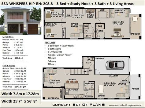 duplex townhouse house plan house design    sq