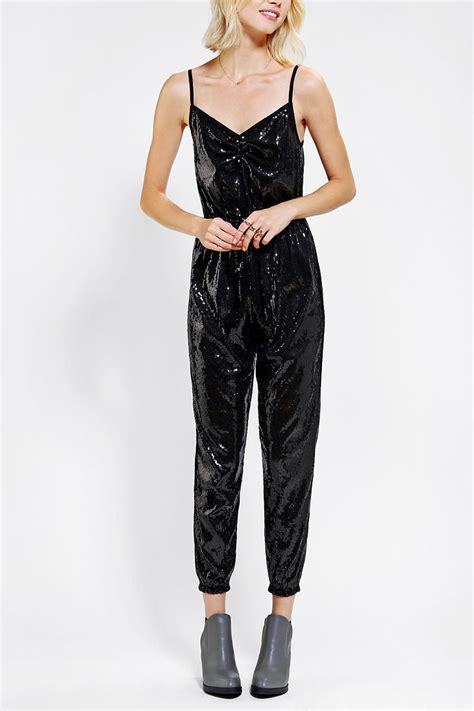 sparkle jumpsuit outfitters sparkle fade sequin jumpsuit in black lyst