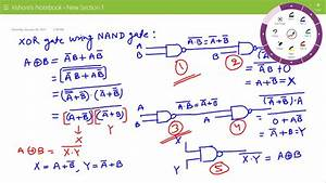 Lecture On Xor Gate Using Nand Gates
