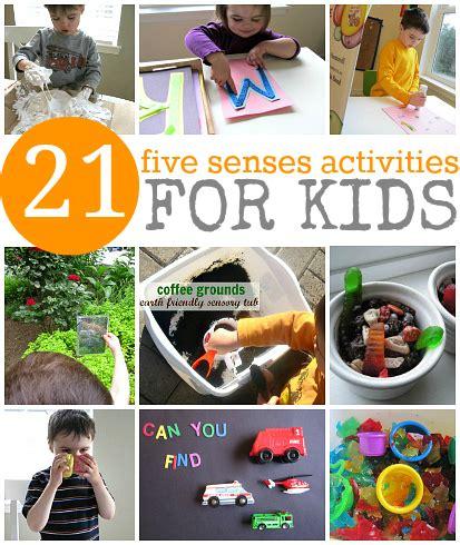 senses preschool activities 5 senes activities for 5
