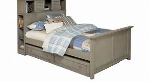 Belmar, Gray, 4, Pc, Full, Bookcase, Bed, W, Trundle