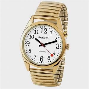 Montre Femme Gros Cadran : montre parlante gros chiffres bracelet or cflou ~ Nature-et-papiers.com Idées de Décoration
