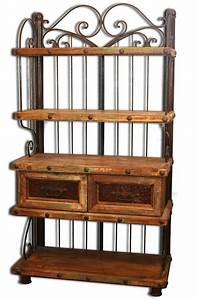 Meuble En Fer : vaisselier ou biblioth que mobilier mexicain de rangement en pin ~ Teatrodelosmanantiales.com Idées de Décoration