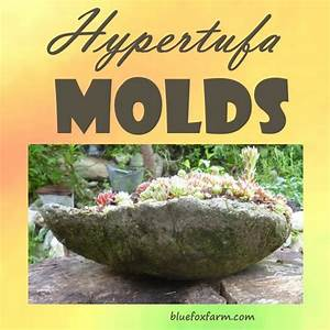 Hypertufa Molds; almost anything can be used to make a