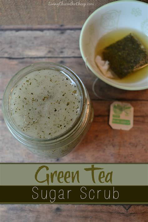 Homemade Green Tea Sugar Scrub