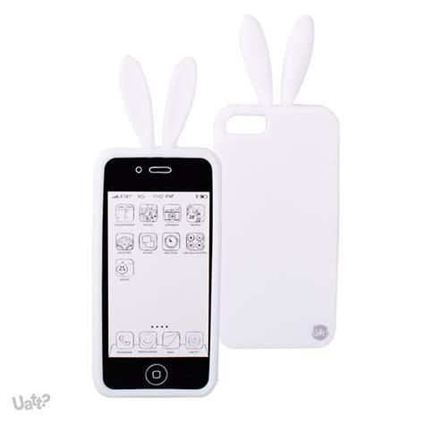 capa para iphone 5 e 5s de silicone coelho branco mega formiga