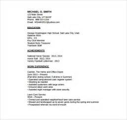 basic resume exles for highschool students basic resumes resume templates share the knownledge