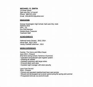 basic resume templates for high school students 28 With basic resume for high school student