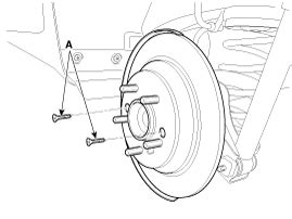 kia soul rear disc brake removal brake system brake system kia soul 2014 2019 ps service