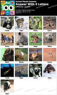 100 Pics Answers Animals with 5 Letters