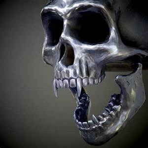 Steel Skull With Fangs Pbr Game