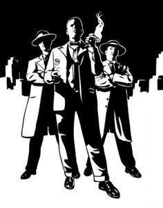 Mafia clip-art, gangster clip-art Product Type : Digital