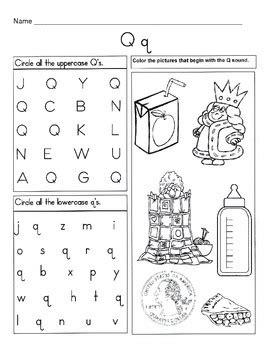 5 letter q worksheets alphabet phonics worksheets letter of the week