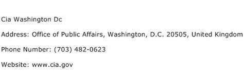 cia phone number cia washington dc address contact number of cia washington dc