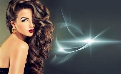 Hair Wallpapers Brunette Woman Earrings Background Backgrounds