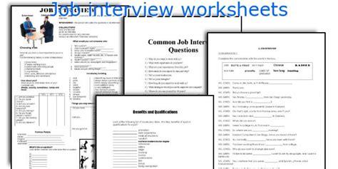 job interview worksheets