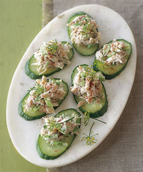 crab canapes crab and cucumber canapés williams sonoma taste