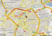 MAP OF LYON FRANCE - Recana Masana