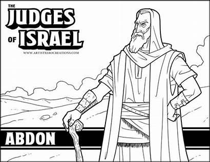 Bible Judges Coloring Pages Activities Deborah Judge