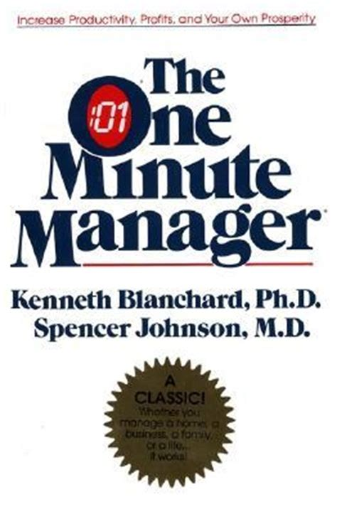 The One Minute Manager By Kenneth H Blanchard