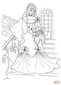 wedding coloring book princess in a wedding dress coloring page free printable coloring pages