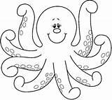 Coloring Octopus Printable sketch template