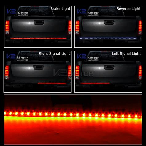 60 quot tailgate led light bar signal brake lights