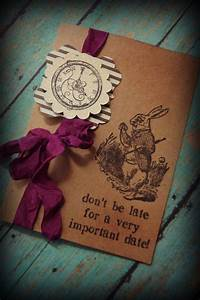 Alice in Wonderland invitations / Mad hatter / bridal ...