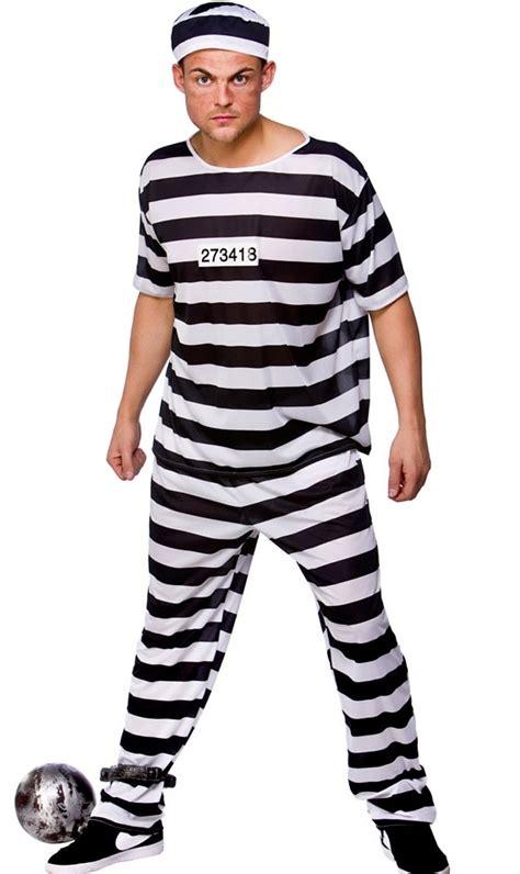 Prison Break Convict Costume- plus size fancy dress ...