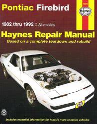 car repair manual download 1992 pontiac firebird lane departure warning 1982 1992 pontiac firebird haynes repair manual