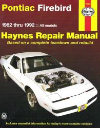car maintenance manuals 1968 pontiac firebird user handbook 1982 1992 pontiac firebird haynes repair manual