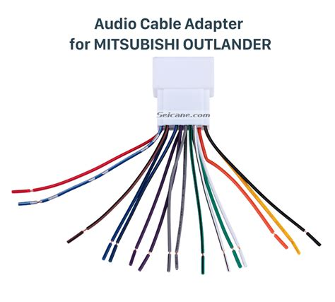 2011 Mitsubishi Lancer Wiring Harnes by Car Stereo Wiring Harness Adapter Audio Cable For