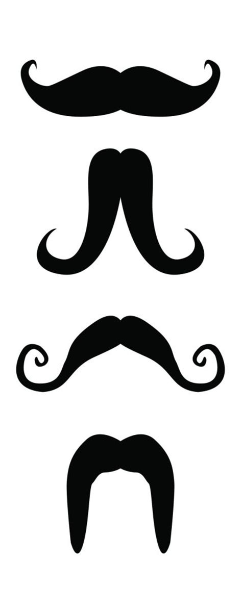 mustache printables   clip art