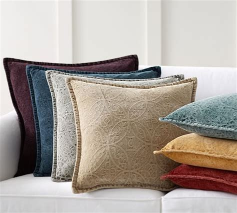 Pottery Barn Throw Pillows For by Chenille Jacquard Pillow Cover Pottery Barn