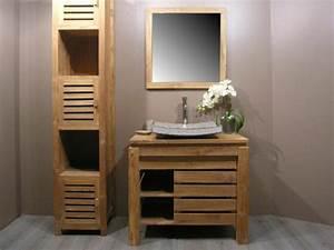 Armoire Salle De Bain Bois : le meuble colonne de salle de bain ~ Melissatoandfro.com Idées de Décoration